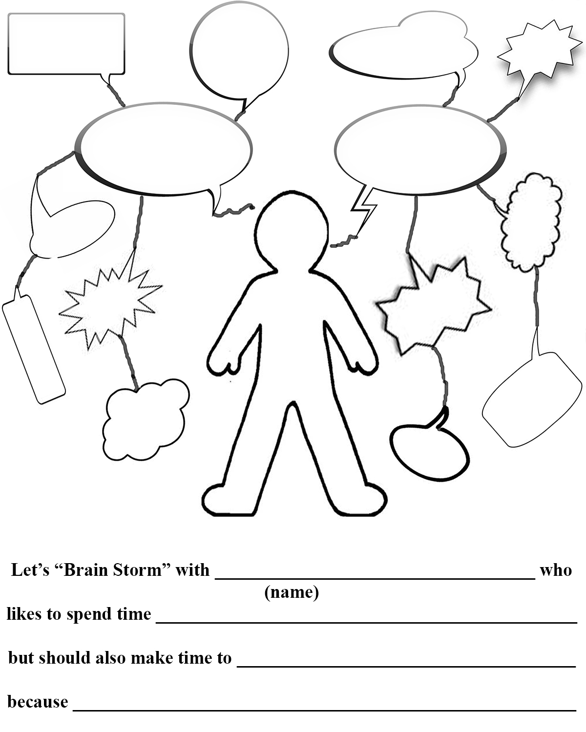 Gallery For u0026gt; Brainstorm Web Worksheet